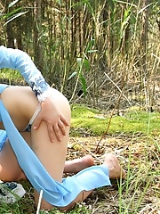 Sexy angel in the woods